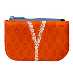 Iron Orange Y Combinator Gears Large Coin Purse by Mariart