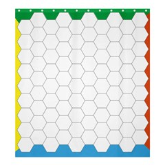 Hex Grid Plaid Green Yellow Blue Orange White Shower Curtain 66  X 72  (large)  by Mariart