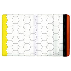 Hex Grid Plaid Green Yellow Blue Orange White Apple Ipad 2 Flip Case by Mariart