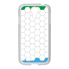 Hex Grid Plaid Green Yellow Blue Orange White Samsung Galaxy S4 I9500/ I9505 Case (white) by Mariart