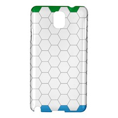 Hex Grid Plaid Green Yellow Blue Orange White Samsung Galaxy Note 3 N9005 Hardshell Case by Mariart