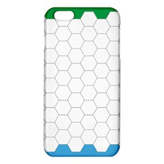Hex Grid Plaid Green Yellow Blue Orange White Iphone 6 Plus/6s Plus Tpu Case by Mariart