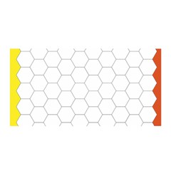 Hex Grid Plaid Green Yellow Blue Orange White Satin Wrap by Mariart