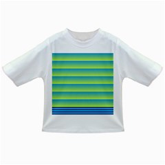 Line Horizontal Green Blue Yellow Light Wave Chevron Infant/toddler T Shirts by Mariart