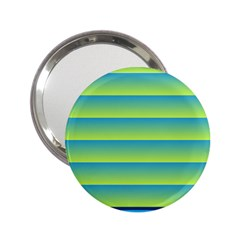 Line Horizontal Green Blue Yellow Light Wave Chevron 2 25  Handbag Mirrors by Mariart