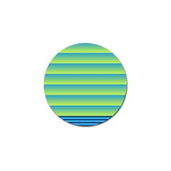 Line Horizontal Green Blue Yellow Light Wave Chevron Golf Ball Marker (4 Pack) by Mariart