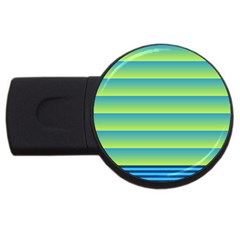 Line Horizontal Green Blue Yellow Light Wave Chevron Usb Flash Drive Round (2 Gb) by Mariart