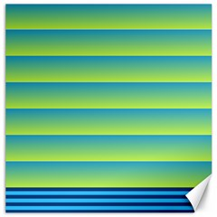 Line Horizontal Green Blue Yellow Light Wave Chevron Canvas 20  X 20   by Mariart