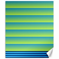 Line Horizontal Green Blue Yellow Light Wave Chevron Canvas 20  X 24   by Mariart