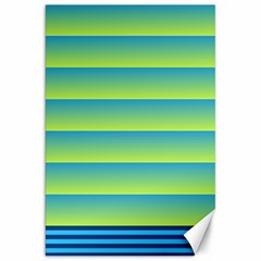 Line Horizontal Green Blue Yellow Light Wave Chevron Canvas 20  X 30   by Mariart