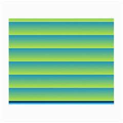 Line Horizontal Green Blue Yellow Light Wave Chevron Small Glasses Cloth (2 Side) by Mariart