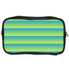 Line Horizontal Green Blue Yellow Light Wave Chevron Toiletries Bags 2 Side by Mariart