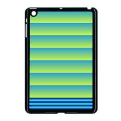 Line Horizontal Green Blue Yellow Light Wave Chevron Apple Ipad Mini Case (black) by Mariart