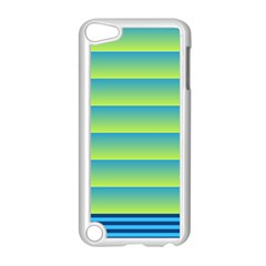 Line Horizontal Green Blue Yellow Light Wave Chevron Apple Ipod Touch 5 Case (white) by Mariart