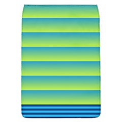 Line Horizontal Green Blue Yellow Light Wave Chevron Flap Covers (l)  by Mariart