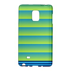 Line Horizontal Green Blue Yellow Light Wave Chevron Galaxy Note Edge by Mariart