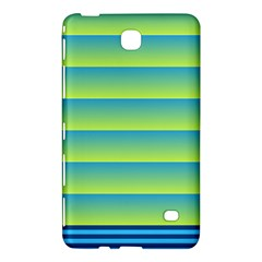 Line Horizontal Green Blue Yellow Light Wave Chevron Samsung Galaxy Tab 4 (8 ) Hardshell Case  by Mariart