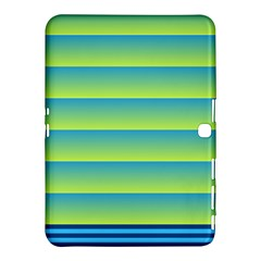 Line Horizontal Green Blue Yellow Light Wave Chevron Samsung Galaxy Tab 4 (10 1 ) Hardshell Case  by Mariart