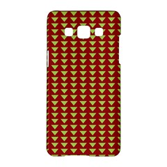 Hawthorn Sharkstooth Triangle Green Red Full Samsung Galaxy A5 Hardshell Case  by Mariart
