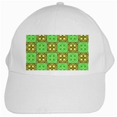 Clipart Aztec Green Yellow White Cap by Mariart