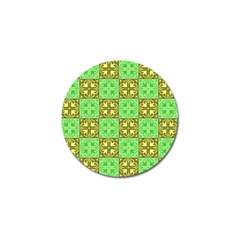 Clipart Aztec Green Yellow Golf Ball Marker (10 Pack) by Mariart