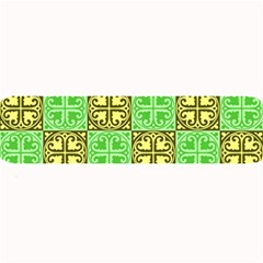 Clipart Aztec Green Yellow Large Bar Mats by Mariart