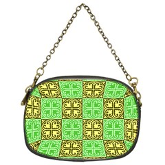 Clipart Aztec Green Yellow Chain Purses (one Side)  by Mariart