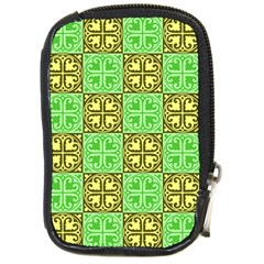 Clipart Aztec Green Yellow Compact Camera Cases by Mariart
