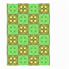 Clipart Aztec Green Yellow Small Garden Flag (two Sides) by Mariart