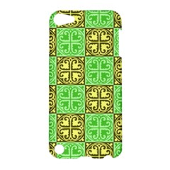 Clipart Aztec Green Yellow Apple Ipod Touch 5 Hardshell Case by Mariart