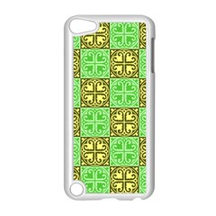 Clipart Aztec Green Yellow Apple Ipod Touch 5 Case (white) by Mariart