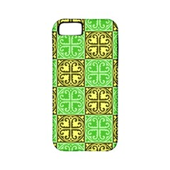 Clipart Aztec Green Yellow Apple Iphone 5 Classic Hardshell Case (pc+silicone) by Mariart