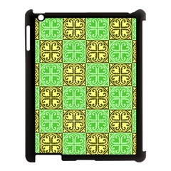 Clipart Aztec Green Yellow Apple Ipad 3/4 Case (black) by Mariart