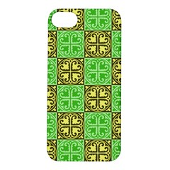Clipart Aztec Green Yellow Apple Iphone 5s/ Se Hardshell Case by Mariart