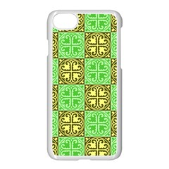 Clipart Aztec Green Yellow Apple Iphone 7 Seamless Case (white) by Mariart