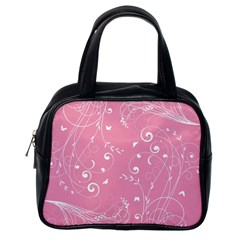 Floral Design Classic Handbags (one Side)