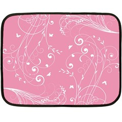 Floral Design Double Sided Fleece Blanket (mini)