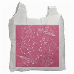 Floral Design Recycle Bag (two Side)