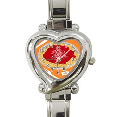 Instant Noodles Mie Sauce Tomato Red Orange Knife Fox Food Pasta Heart Italian Charm Watch by Mariart