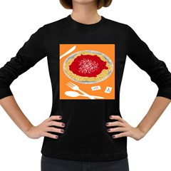 Instant Noodles Mie Sauce Tomato Red Orange Knife Fox Food Pasta Women s Long Sleeve Dark T Shirts