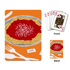 Instant Noodles Mie Sauce Tomato Red Orange Knife Fox Food Pasta Playing Card by Mariart