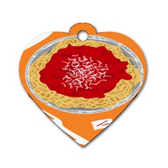 Instant Noodles Mie Sauce Tomato Red Orange Knife Fox Food Pasta Dog Tag Heart (one Side) by Mariart