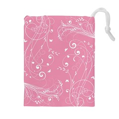 Floral Design Drawstring Pouches (extra Large)