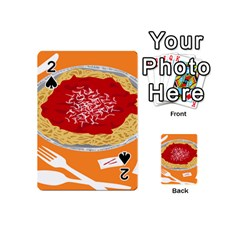 Instant Noodles Mie Sauce Tomato Red Orange Knife Fox Food Pasta Playing Cards 54 (mini)  by Mariart