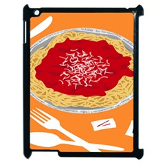 Instant Noodles Mie Sauce Tomato Red Orange Knife Fox Food Pasta Apple Ipad 2 Case (black) by Mariart