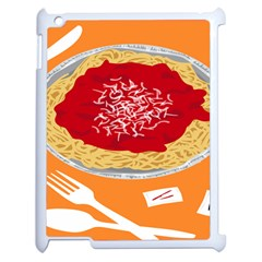 Instant Noodles Mie Sauce Tomato Red Orange Knife Fox Food Pasta Apple Ipad 2 Case (white) by Mariart