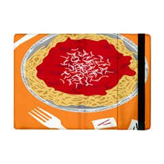 Instant Noodles Mie Sauce Tomato Red Orange Knife Fox Food Pasta Ipad Mini 2 Flip Cases by Mariart