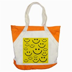 Linus Smileys Face Cute Yellow Accent Tote Bag by Mariart