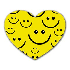 Linus Smileys Face Cute Yellow Heart Mousepads by Mariart