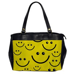 Linus Smileys Face Cute Yellow Office Handbags by Mariart